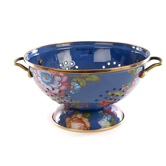 MacKenzie-Childs Flower Market Large Colander - Lapis