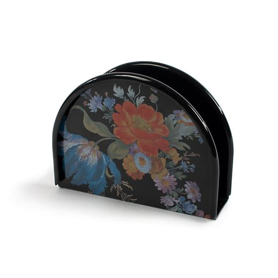 MacKenzie-Childs Flower Market Napkin Holder - Black