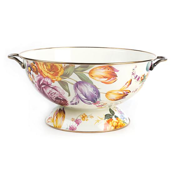MacKenzie-Childs Flower Market Everything Bowl - White