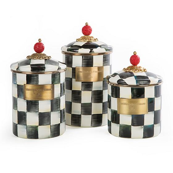 MacKenzie-Childs Courtly Check Enamel Canister