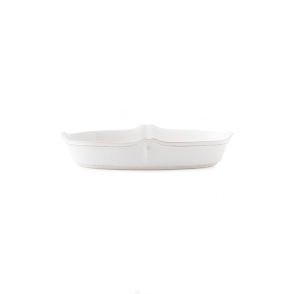 "Juliska Berry & Thread Whitewash 12"" Oblong Serving Dish"
