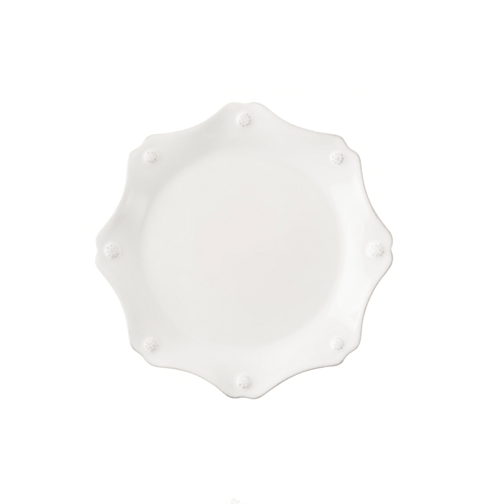 Juliska Berry & Thread Whitewash Scalloped Dessert/Salad Plate