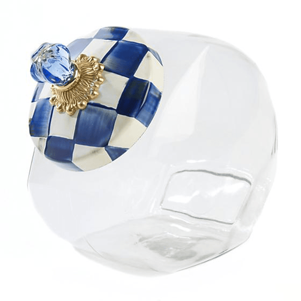 MacKenzie-Childs Royal Check Cookie Jar with Enamel Lid