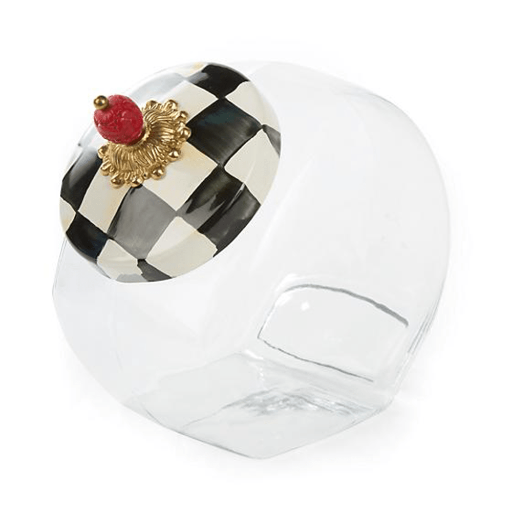 MacKenzie-Childs Courtly Check Cookie Jar with Enamel Lid