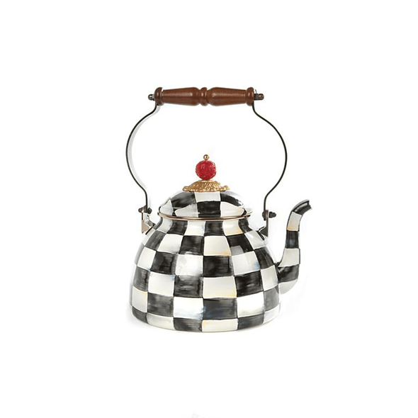 MacKenzie-Childs Courtly Check Enamel Tea Kettle