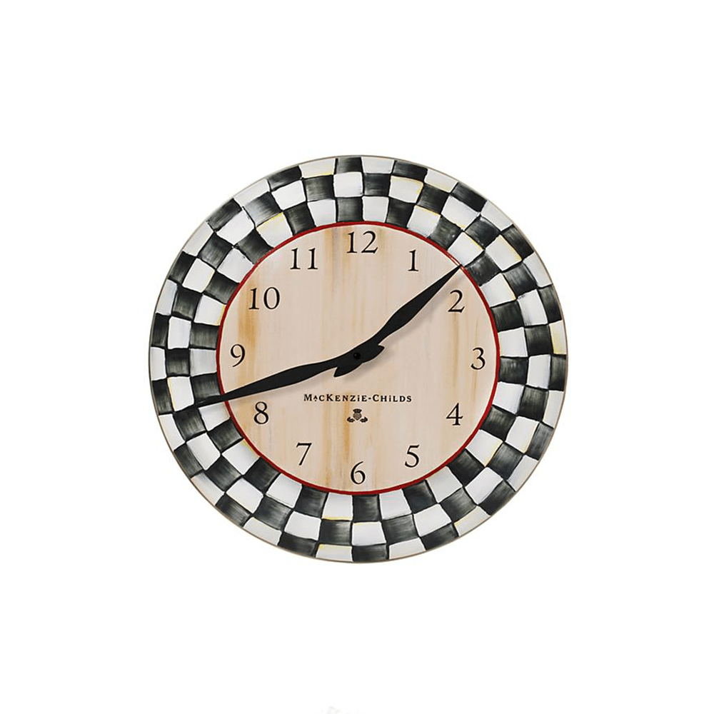 MacKenzie-Childs Courtly Check Clock