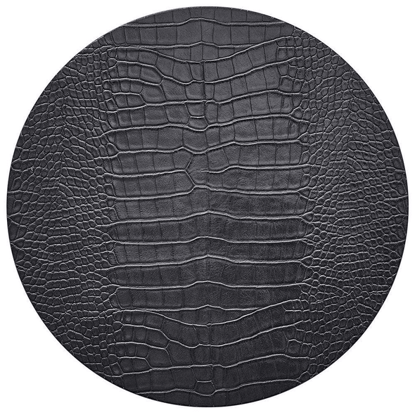 Kim Seybert-Croco Placemat in Charcoal- Set of 4