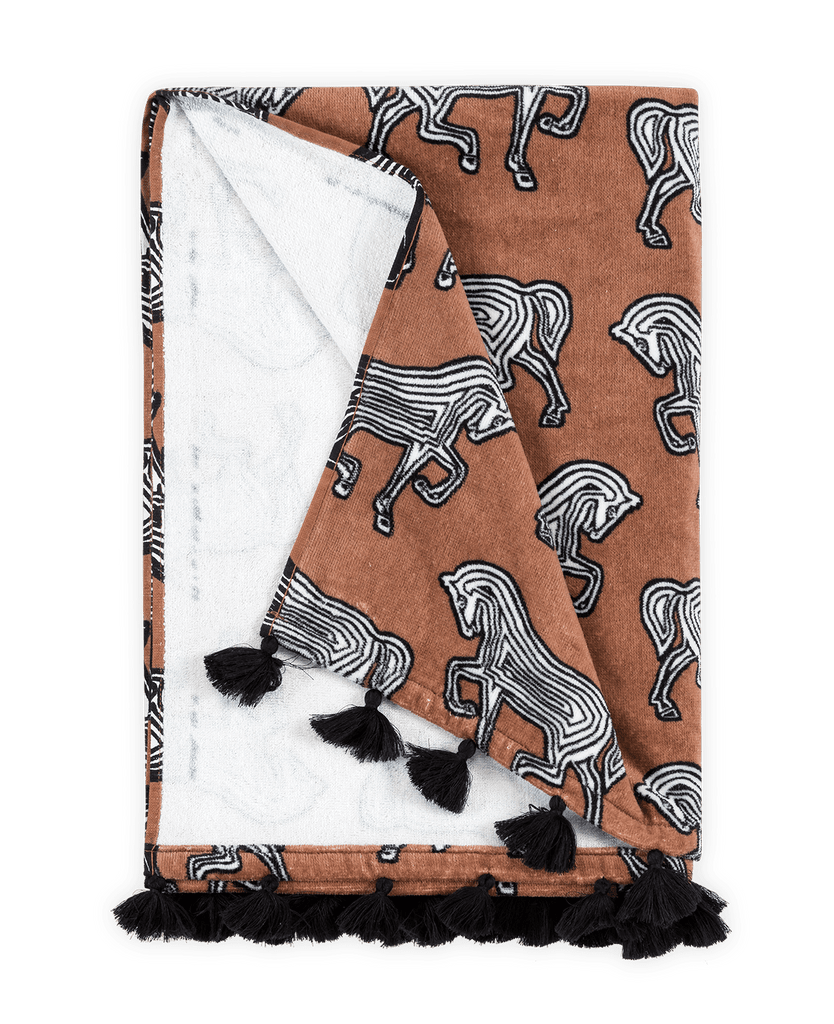 Matouk Faubourg Beach Towel Coconut