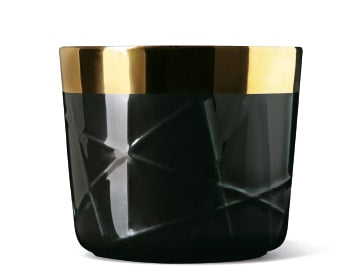 Comic Cups Noir Rod Embossed Champagne Goblet