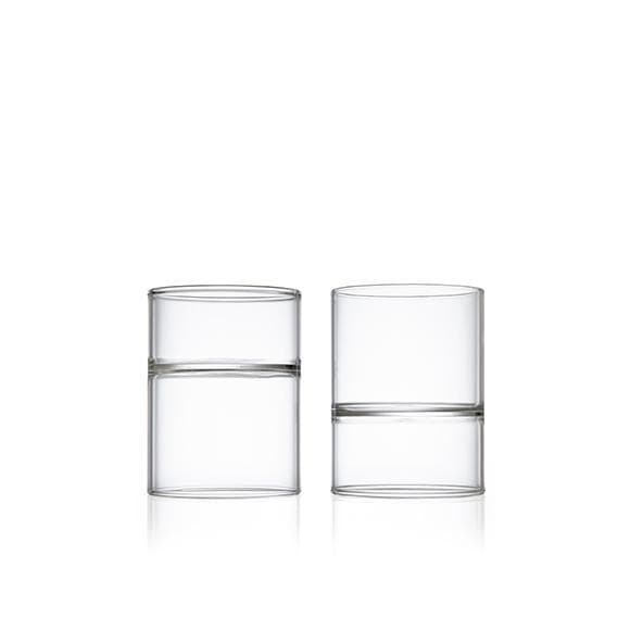 Architectural Glassware Revolution Rocks & Martini Glass-Set of 2