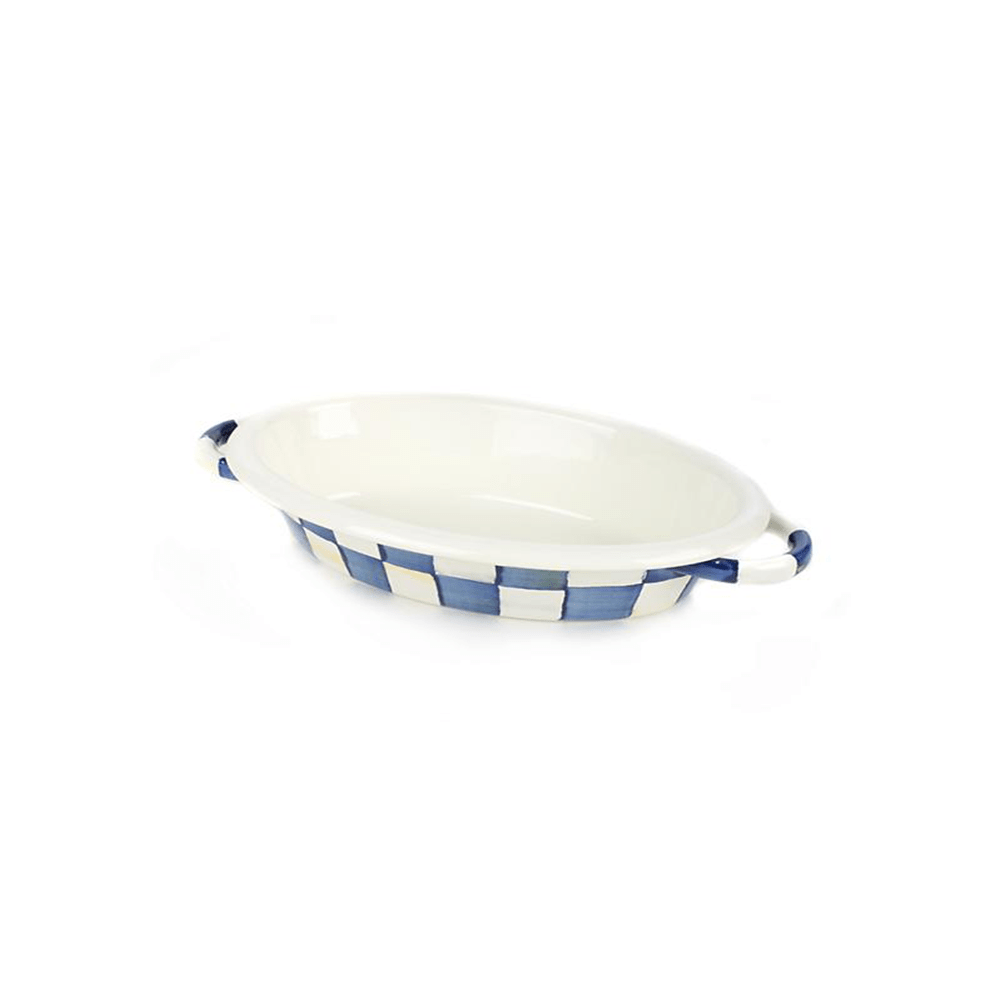 MacKenzie-Childs Royal Check Oval Gratin - Small