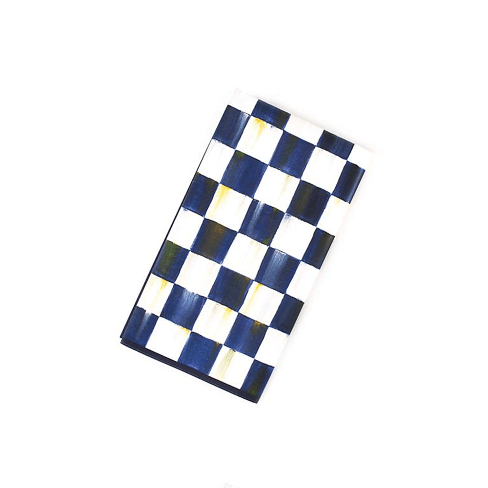 MacKeznie-Childs Royal Check Paper Napkins