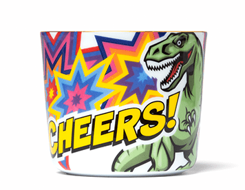 Comic Cups Rumble Rex Champagne Goblet