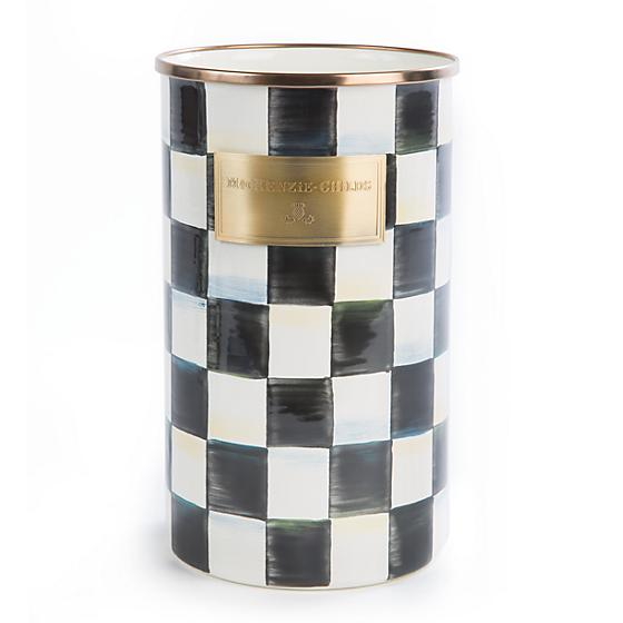 MacKenzie-Childs Courtly Check Enamel Utensil Holder