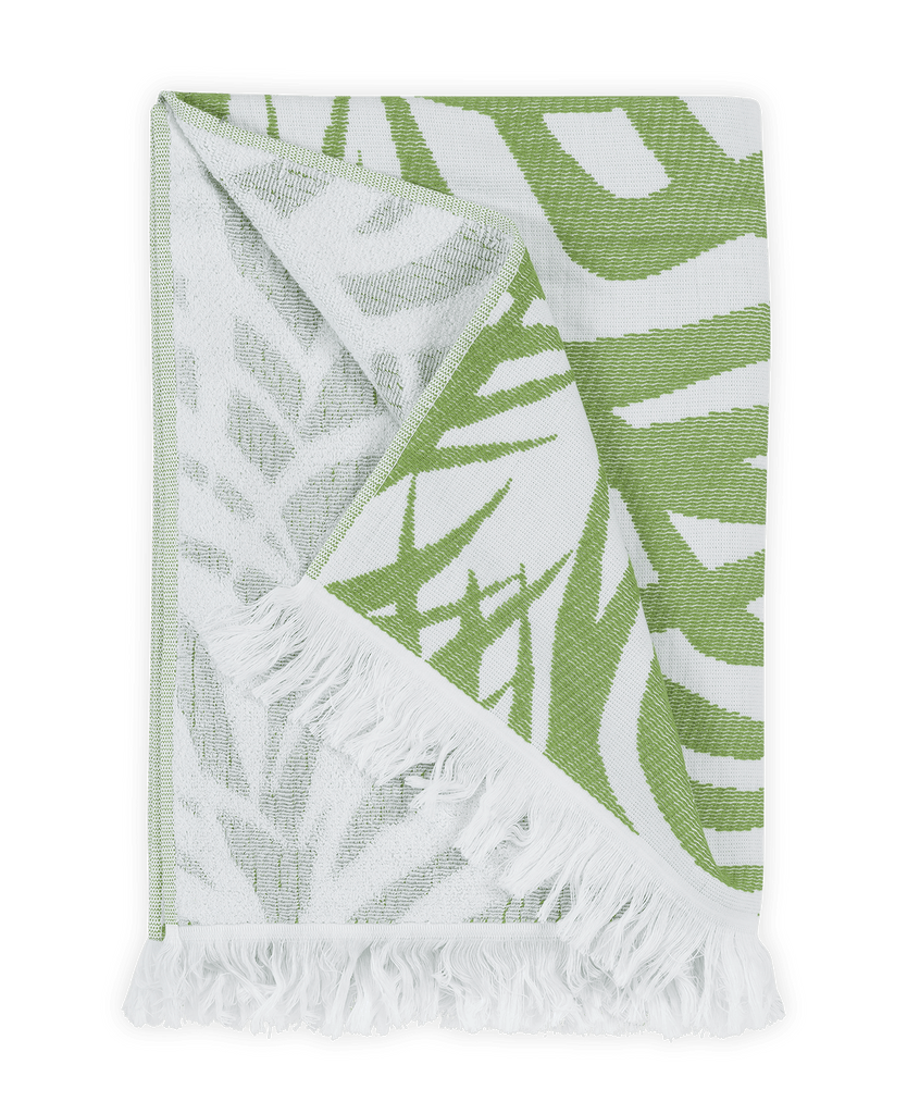 Matouk Zebra Palm Beach Towel Jungle