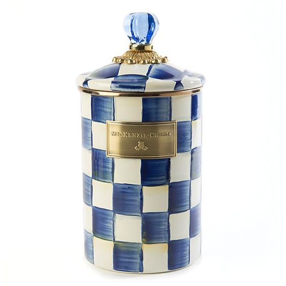 MacKenzie-Childs Royal Check Canister