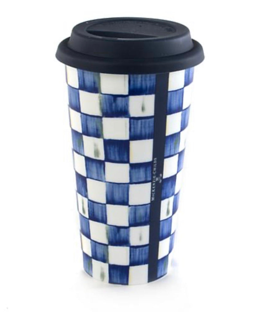 MacKenzie-Childs Royal Check Travel Cup