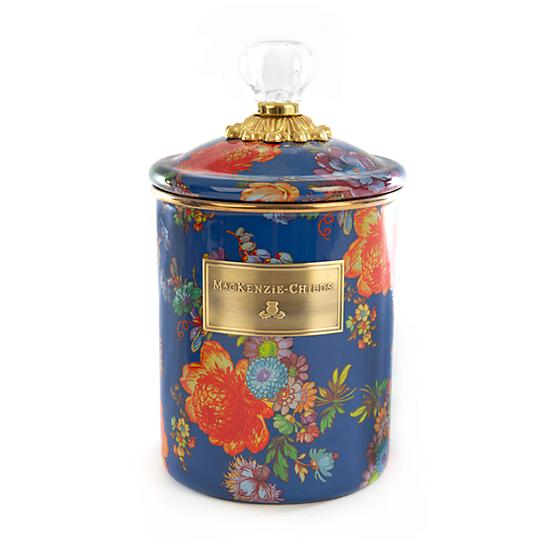 MacKenzie-Childs Flower Market Medium Canister - Lapis
