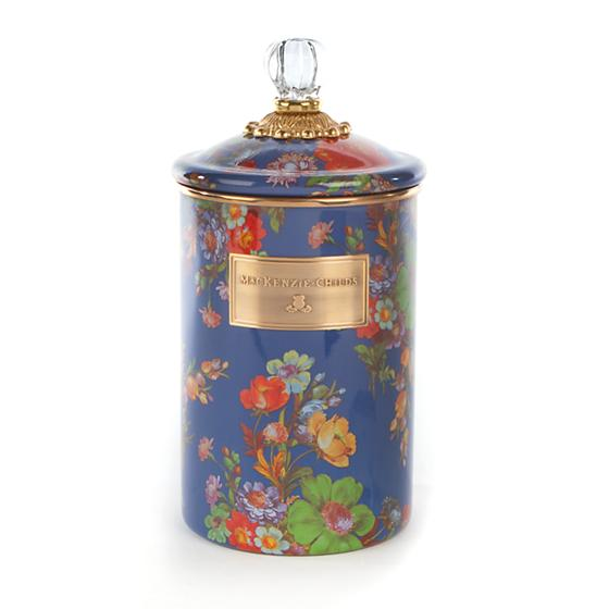 MacKenzie-Childs Flower Market Large Canister - Lapis