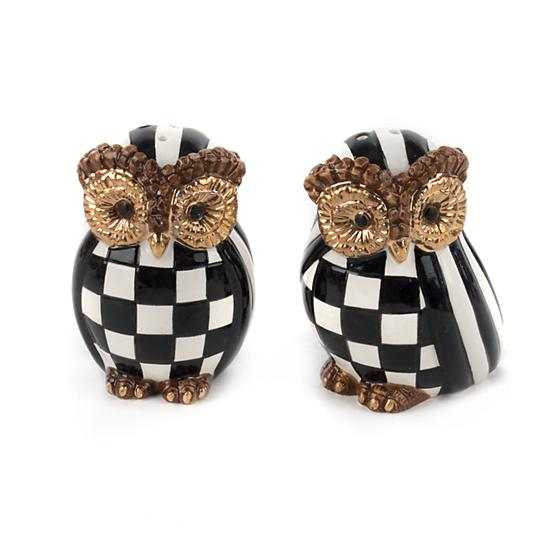 MacKenzie-Childs Owl Salt & Pepper Set