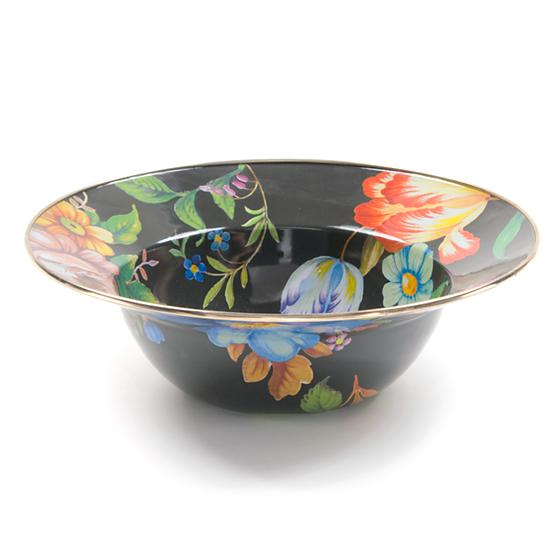 MacKenzie-Childs Flower Market Serving Bowl - Black