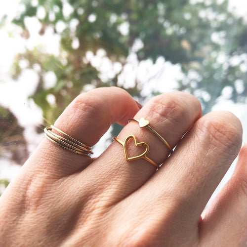 heart shaped dainty ring  personalised ring  gift for sister  gift for mother  minimalist ring plane ring  Promise Ring  gift ring