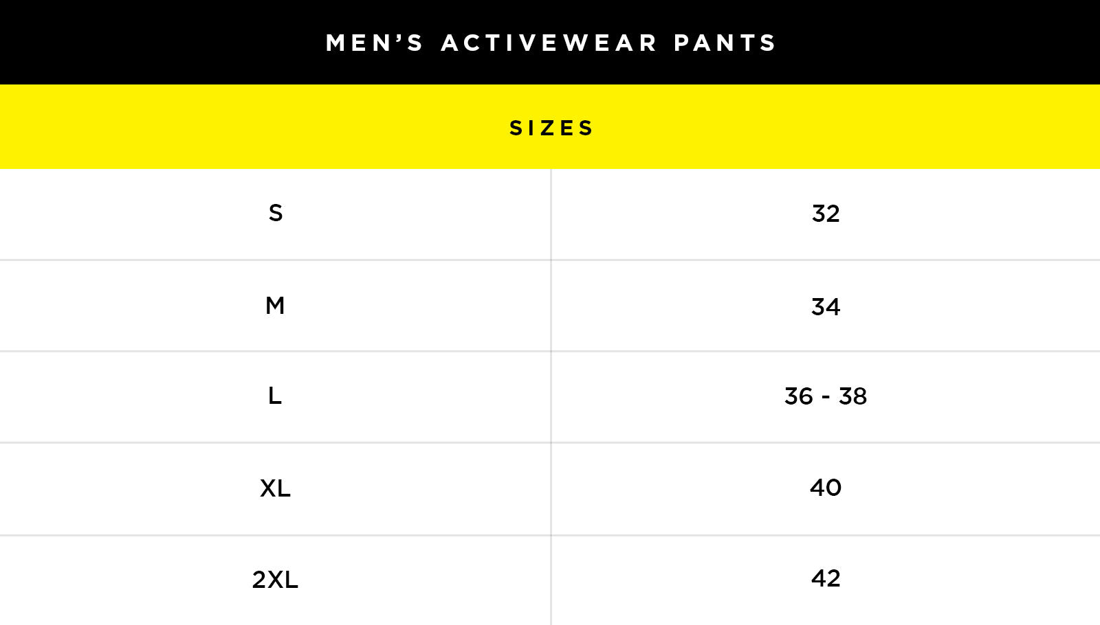 Size & Fit Guide – Body Glove
