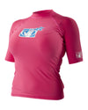 Basic Short-Sleeve Women's Lycra Rash Guard - Pink