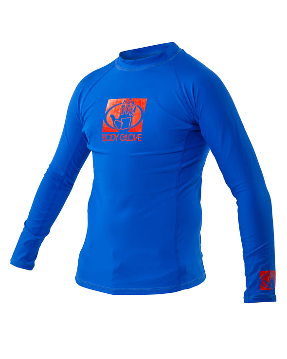 Basic Junior Long-Arm Lycra Rash Guard - Royal