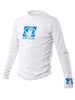 Basic Junior Long-Arm Lycra Rash Guard - White