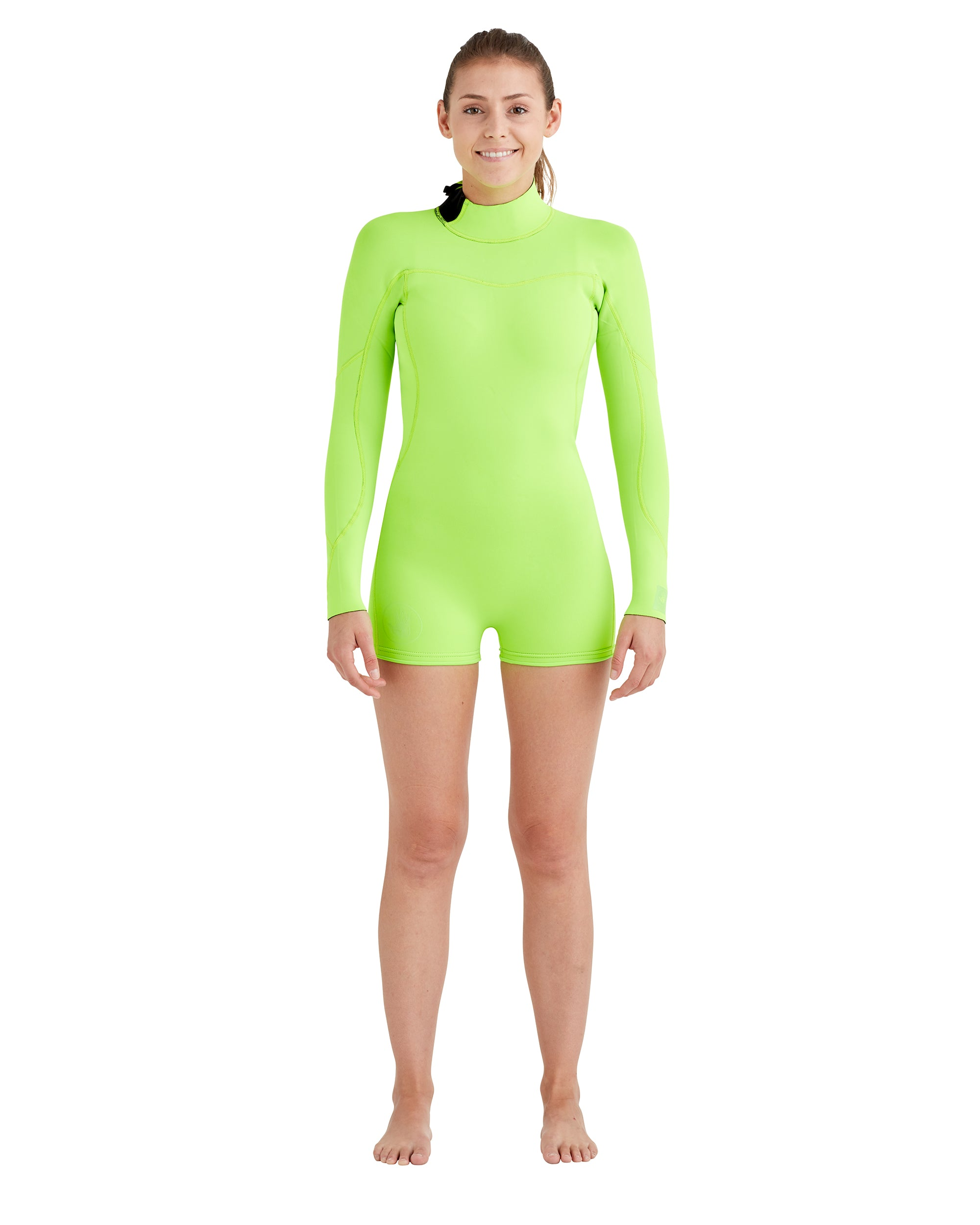 Women's Smoothies 2mm Back-Zip L/A Springsuit - Lime