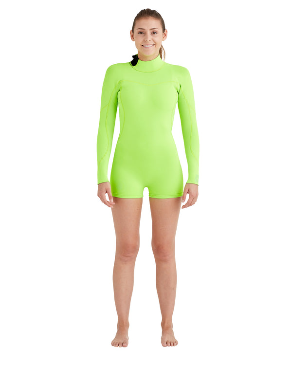 d0f8752af7 Women's Smoothies 2mm Back-Zip L/A Springsuit - Lime
