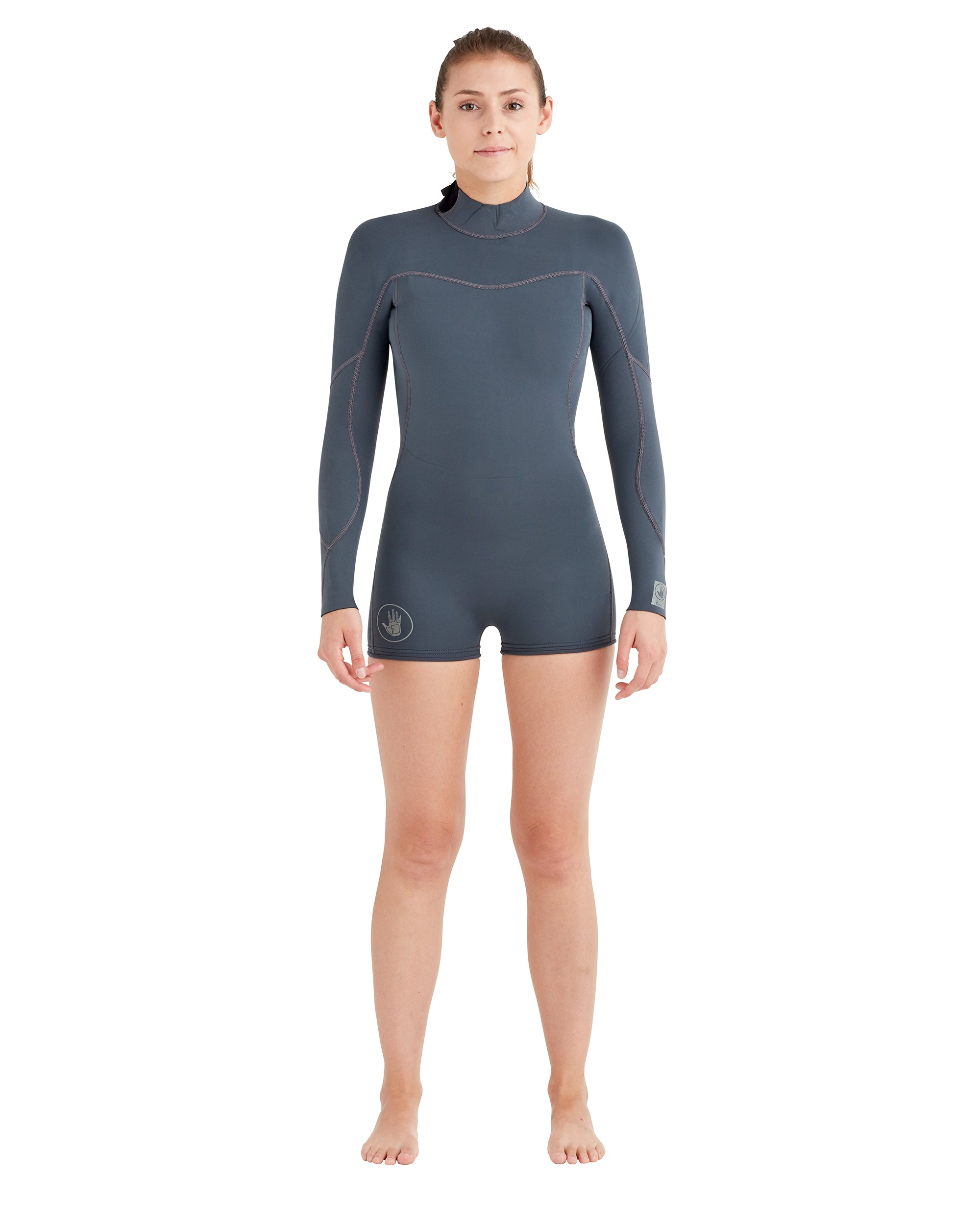 Women's Smoothies 2mm Back-Zip L/A Springsuit - Gun Metal