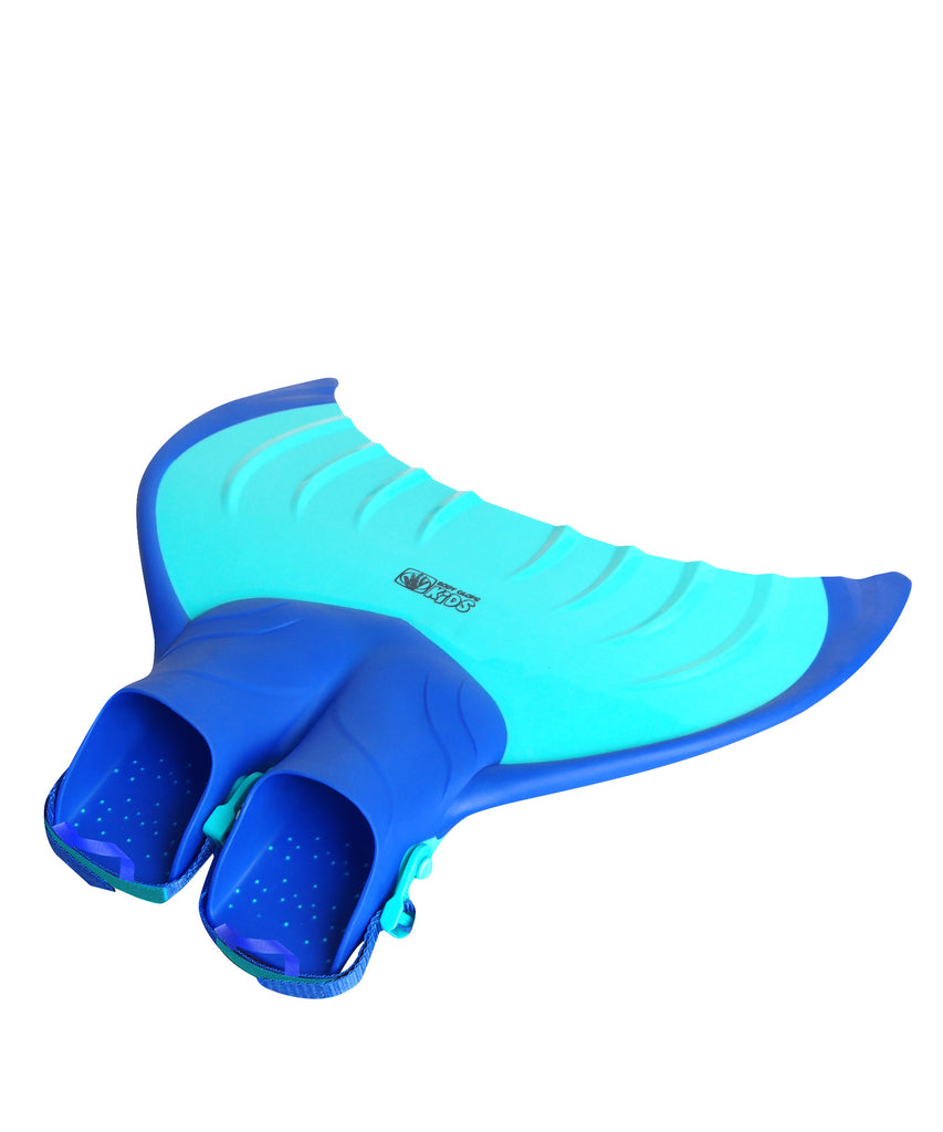 The top-rated kids\\\' monofin easily propels and glides through the water just like a mermaid or merman!Quick-adjusting straps with easy-...
