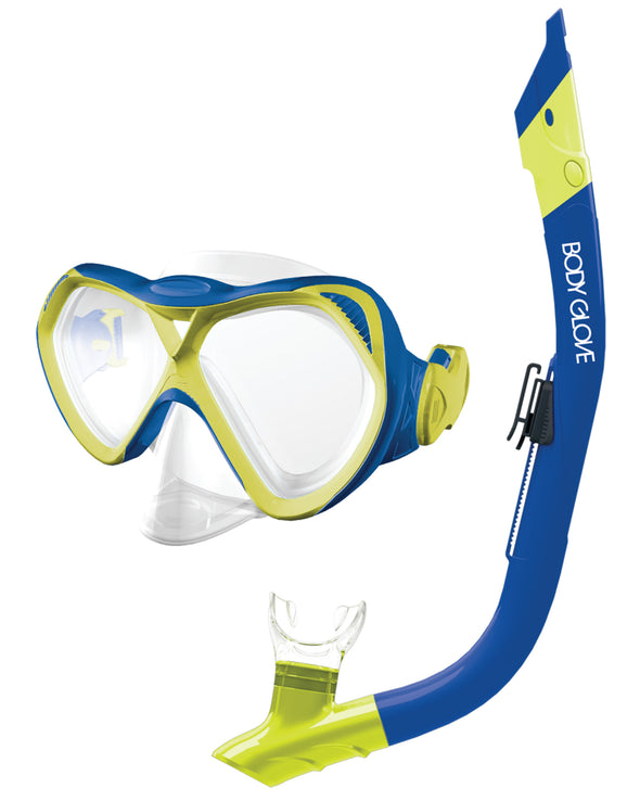 Cove Mask / Snorkel Combo - Blue/Citron