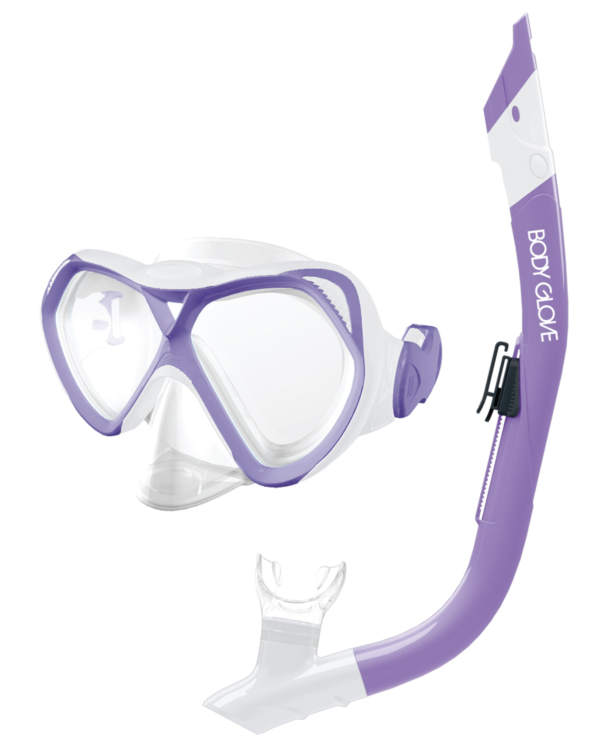 Cove Mask / Snorkel Combo - Purple/White