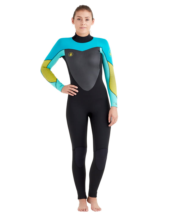 Women s EOS 3 2mm Back-Zip Wetsuit - Aqua Yellow 8c31ca8db