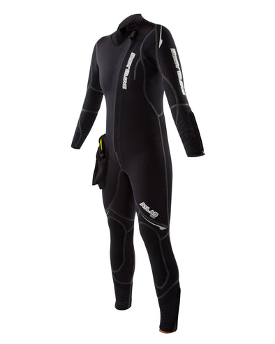 Atlas 5mm Front-Zip Women's Dive Suit with Modular Hood - Black
