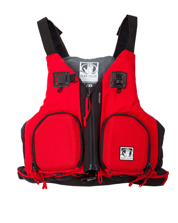 Sonar Fishing Vest - Men's/Youth - Red