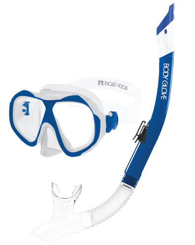 Enlighten II Mask / Snorkel Combo - Blue/White