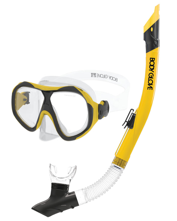 Enlighten II Mask / Snorkel Combo - Yellow/Black