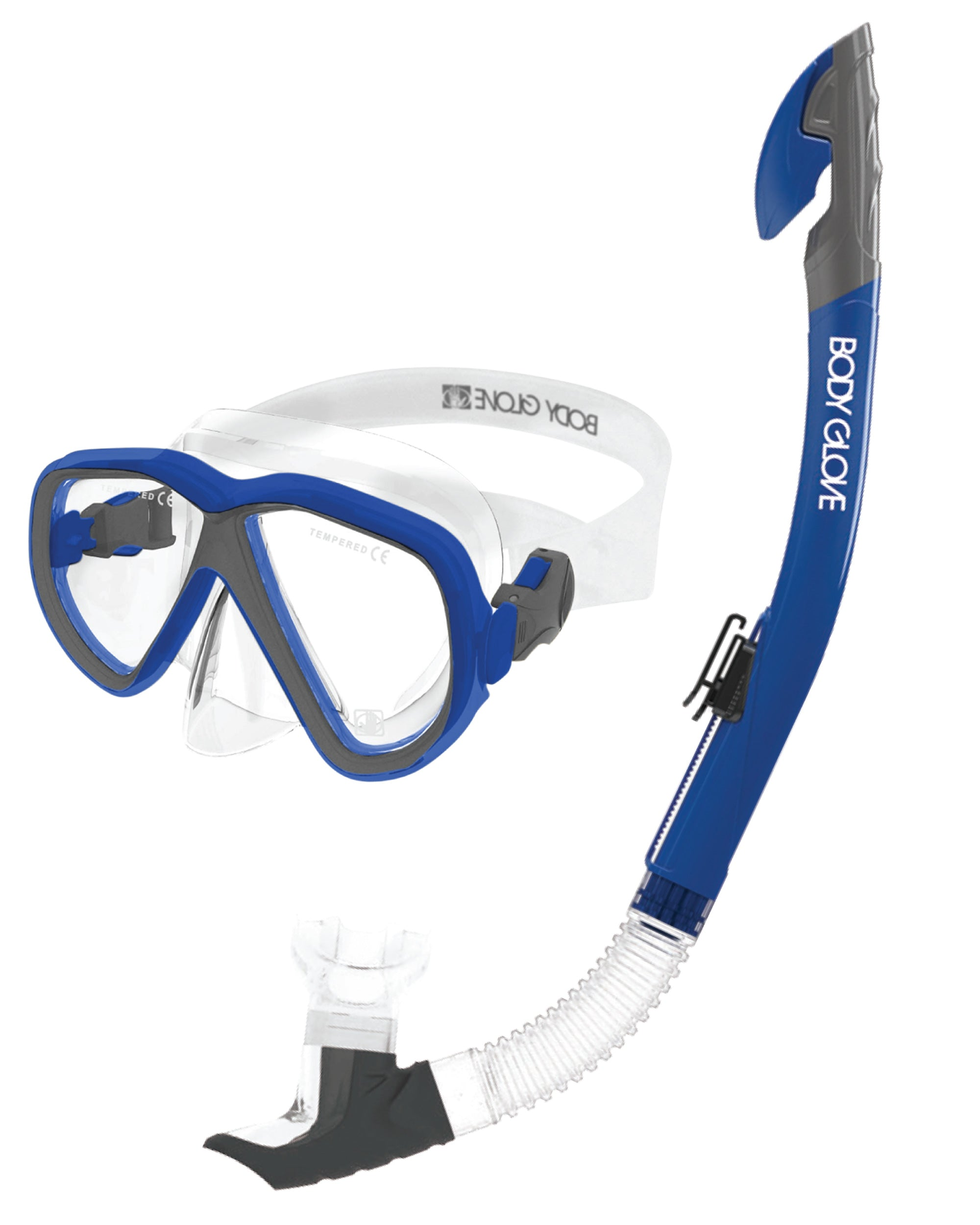 Azores Mask / Snorkel Combo - Blue/Grey