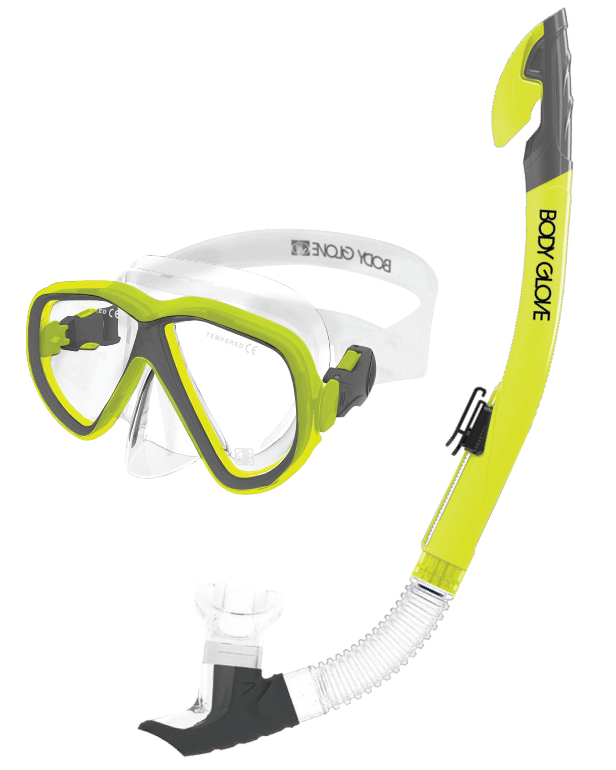 Azores Mask / Snorkel Combo - Citron/Grey