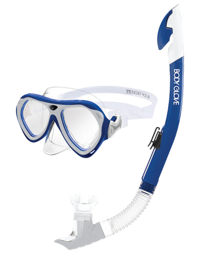 Aruba Women's Mask / Snorkel Combo - Blue/White