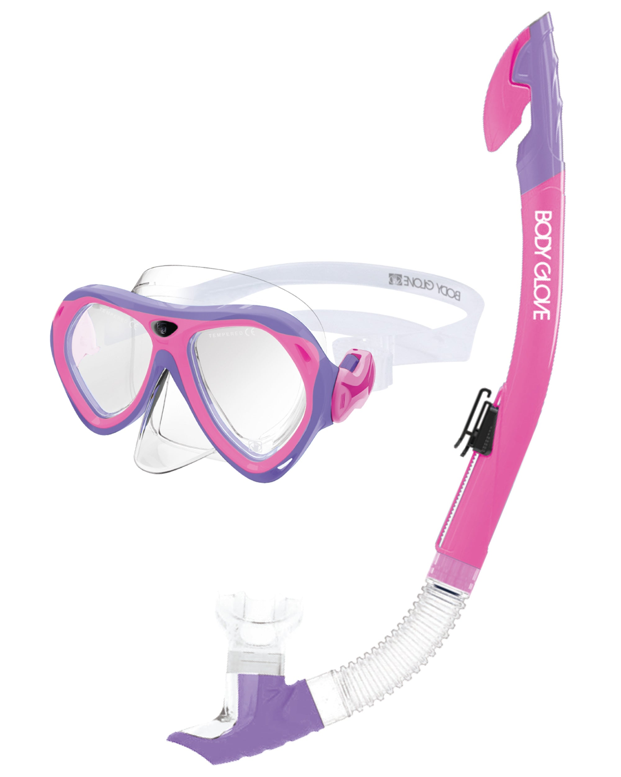 Aruba Women's Mask / Snorkel Combo - Pink/Purple