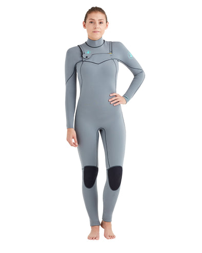 Women's Topaz 4/3mm Separated-Zip Fullsuit - Grey
