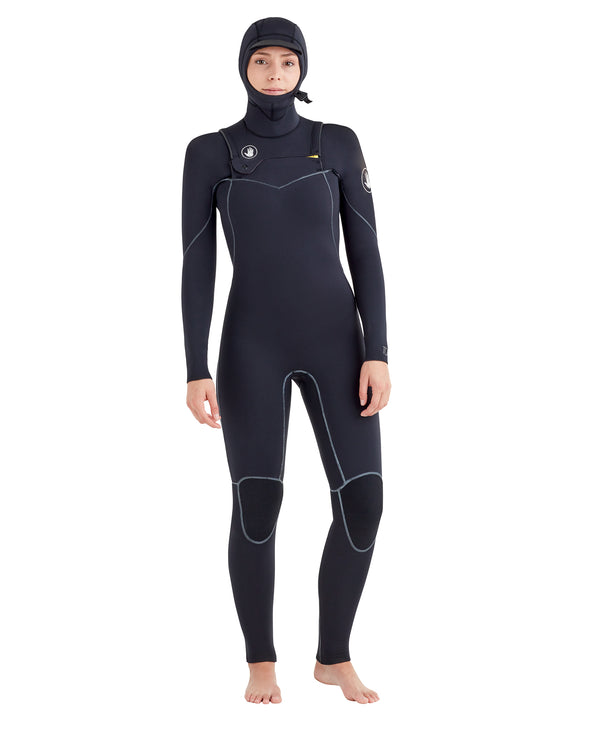 Women's Topaz 5/4/3mm Separated-Zip Fullsuit - Black