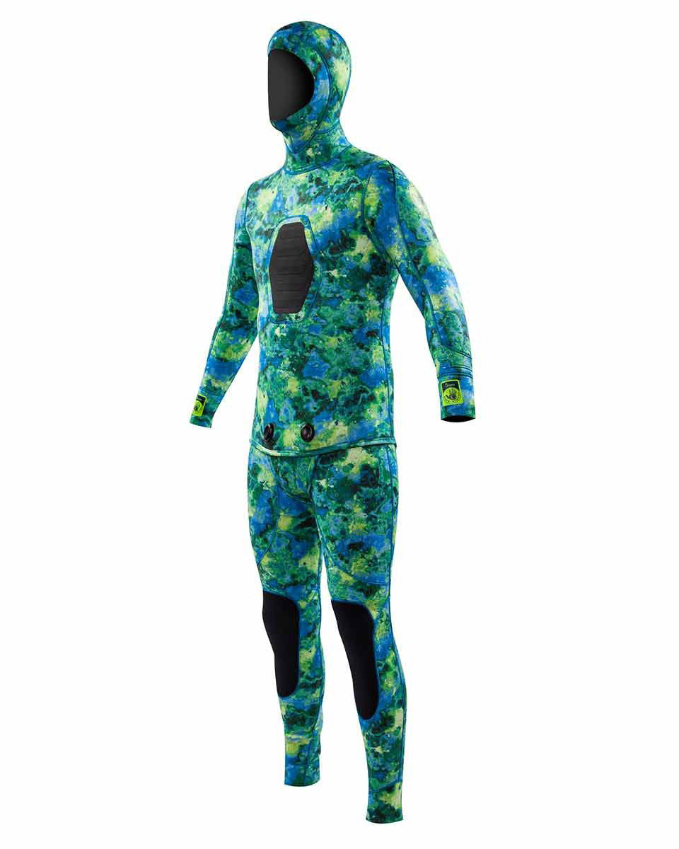 5mm Men's Free-Dive 2-Piece Beaver Tail Suit