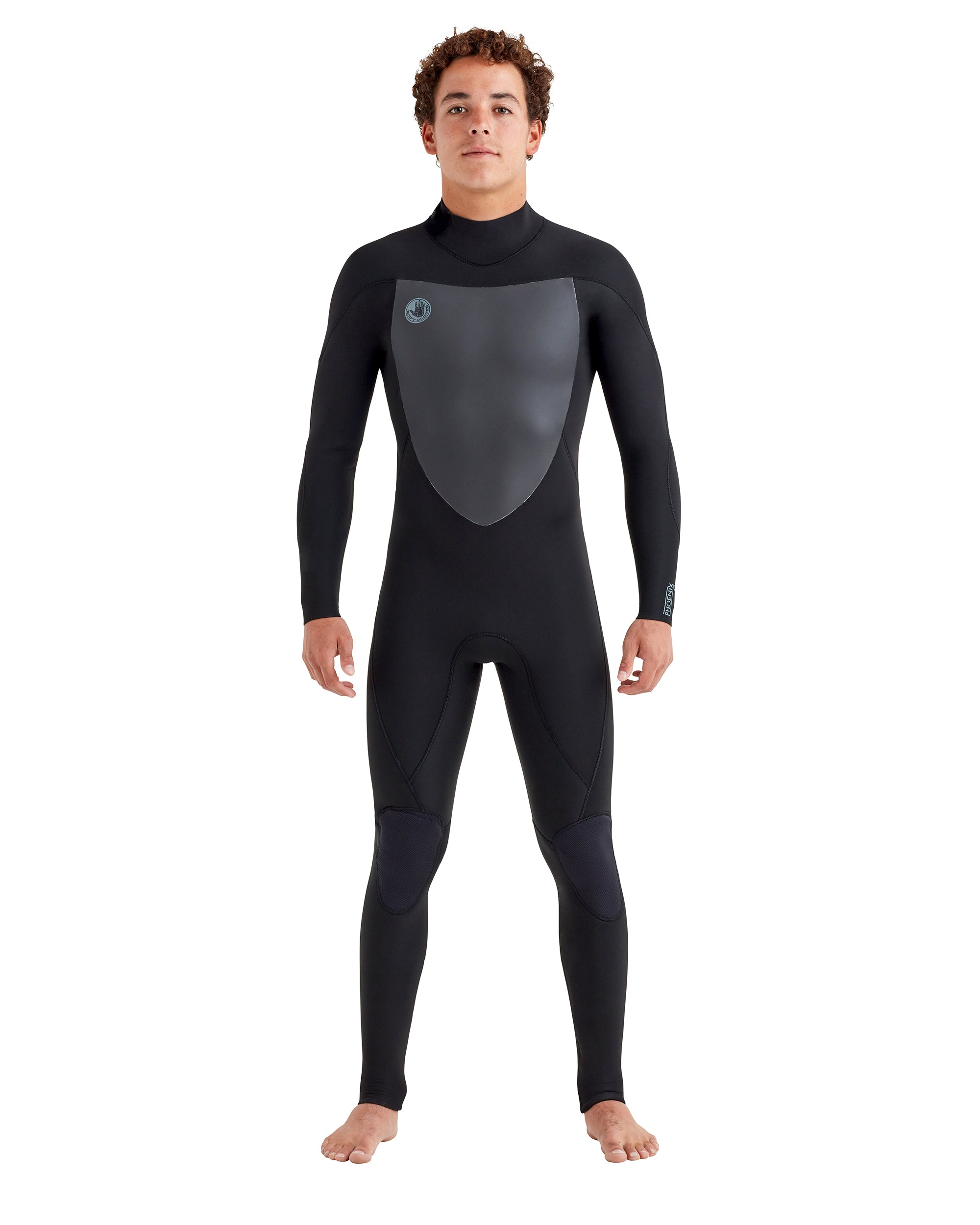 Phoenix 4/3mm Back-Zip Men's Fullsuit - Black