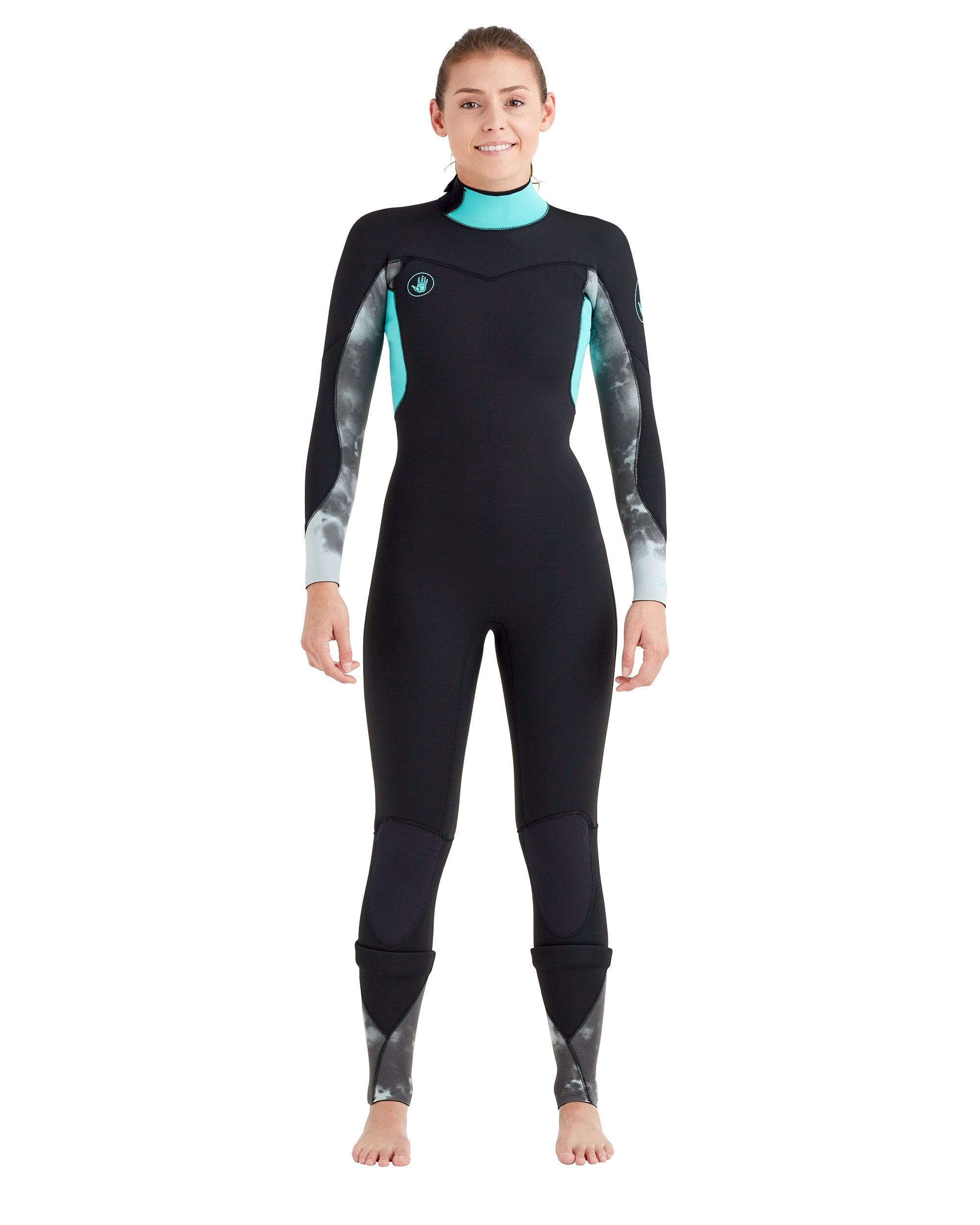 Women s 4 3mm Stellar Back-Zip Fullsuit - Aqua – Body Glove 8c4b82983